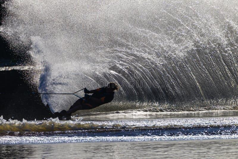 Download Water Skiing Girl Black White Editorial Image - Image: 26541405