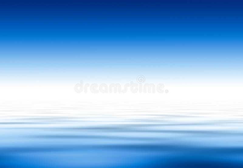 Water and sky.... Deep blue royalty free illustration