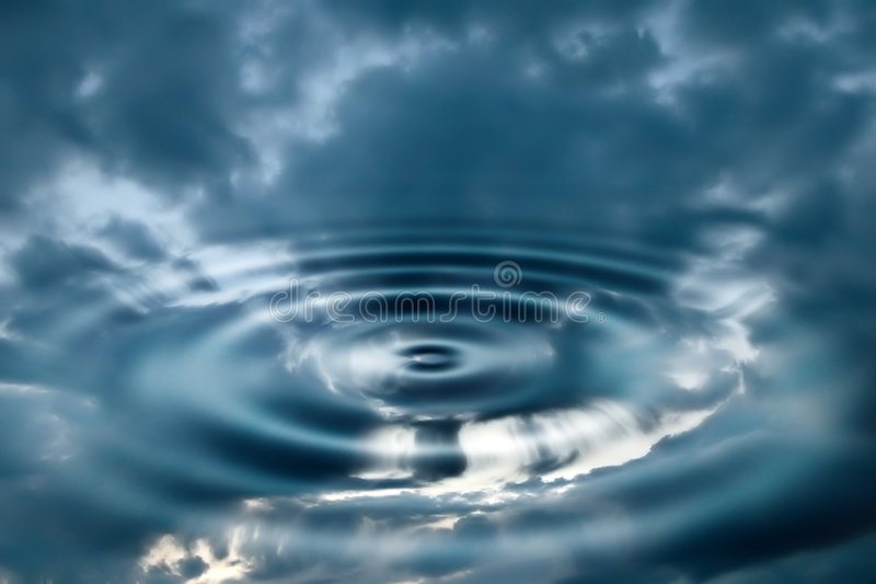 Water and sky royalty free stock photography