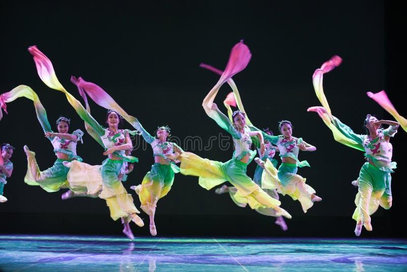 Water sleeve-The national folk dance. Graduation performance of class 2, grade 11, dancing department,Jiangxi Vocational Academy of Art on Dec 24,2015 royalty free stock image