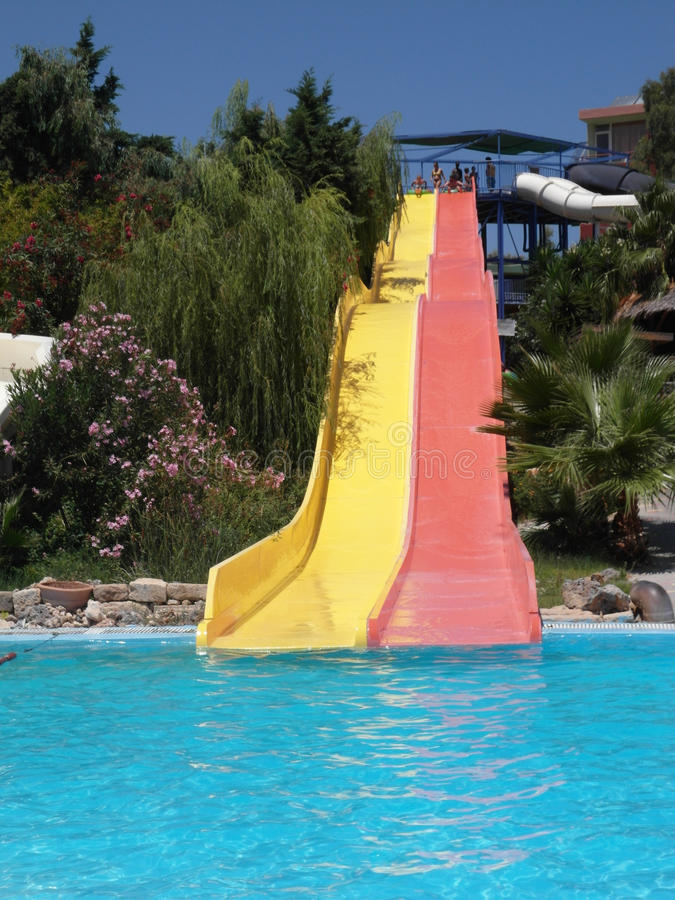 Download Water slide stock photo. Image of straight, children - 26018472
