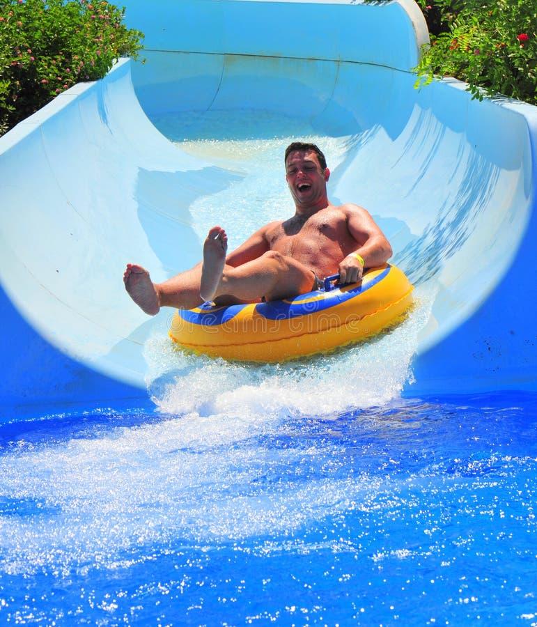 Free Water Slide At The Aqua Park - Sumer Fun Royalty Free Stock Photos - 25156618