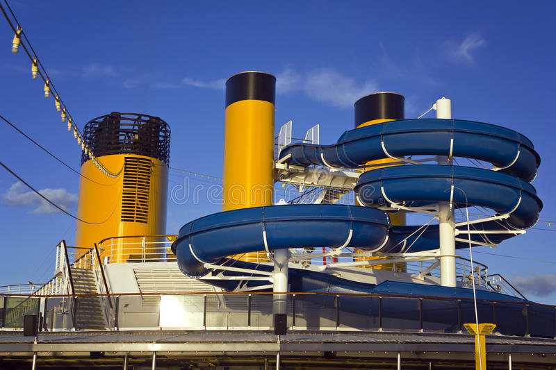 Water Slide On A Cruise Ship Stock Photo Image Of Pool Life - Cruise ship slide