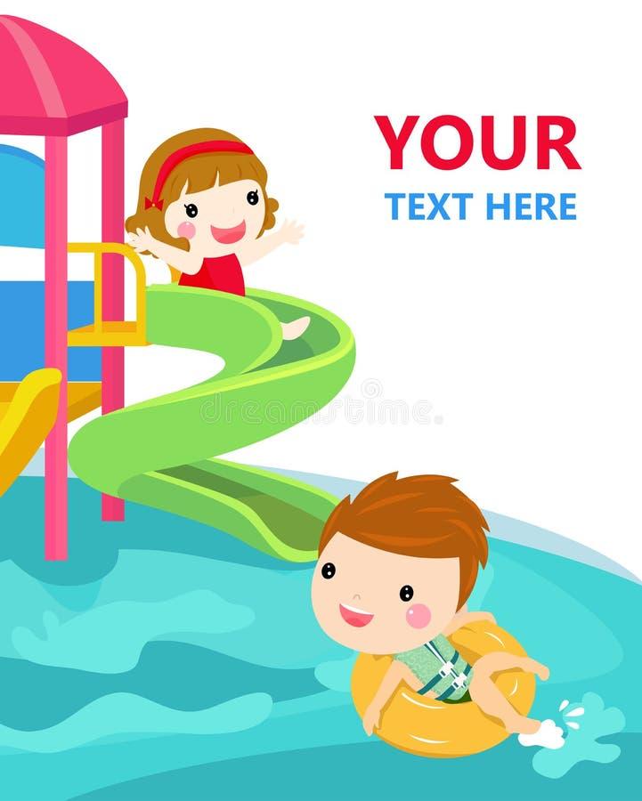 Water slide for family and children. royalty free illustration
