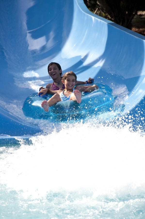 Water slide fun royalty free stock photo