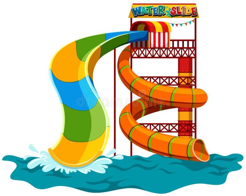 Water slide at the park. Illustration vector illustration