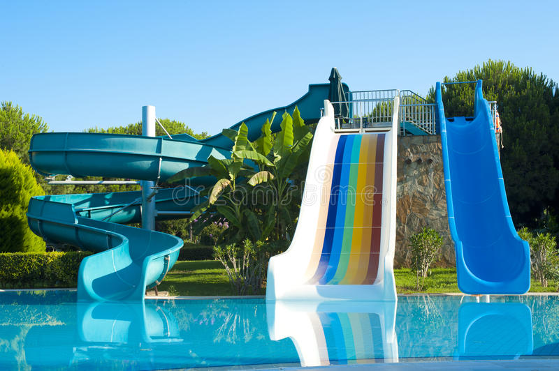 Water Slides stock images