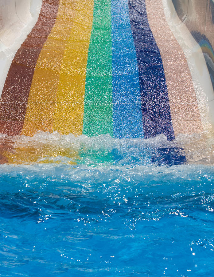 Water slides end royalty free stock images