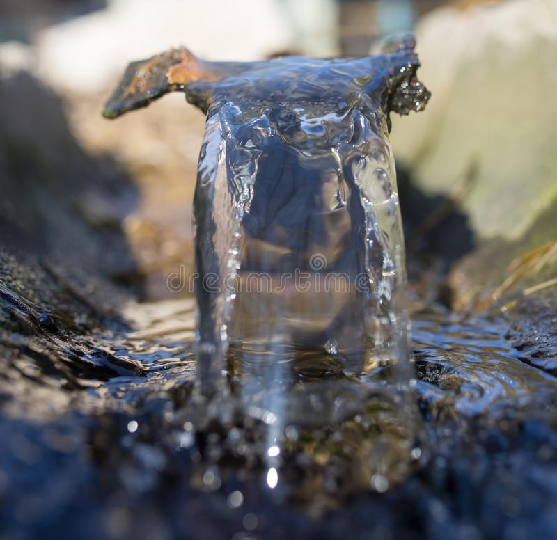 Water in a small river stock images