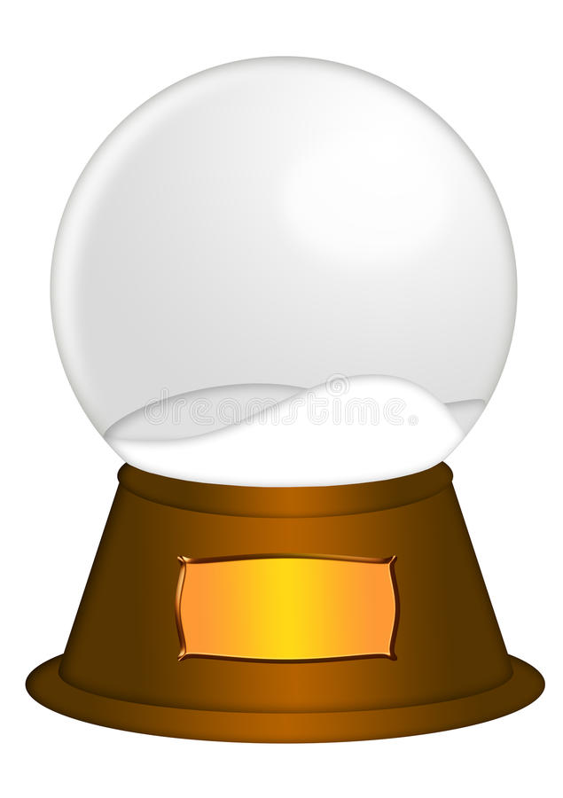 Download Water Snow Globe With Blank Title Plaque Royalty Free Stock Photography - Image: 22450047