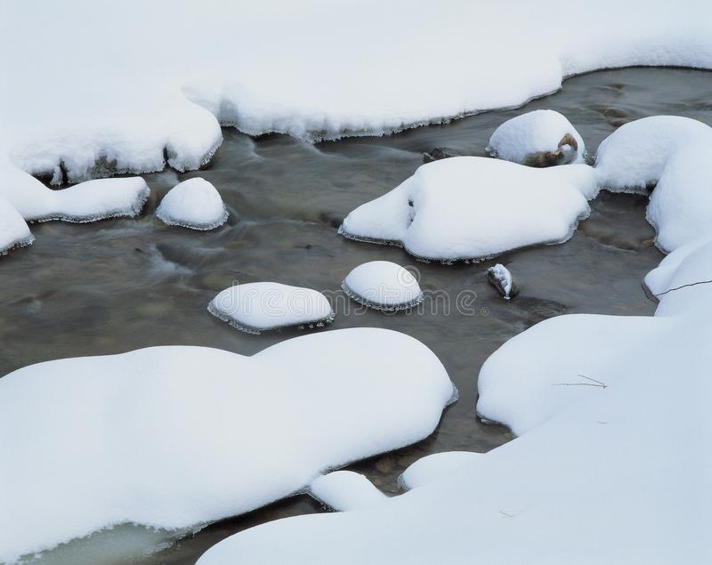 Water snow winter white rocks nature outdoors pure cold steam stock photos