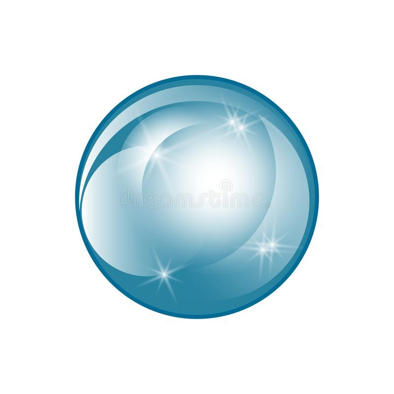 Water soap bubble with soft shadow.. Transparent Isolated Realistic Design Elements vector illustration