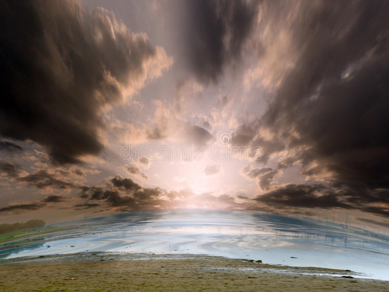 Download Water and solar sky stock image. Image of fields, nature - 13678955
