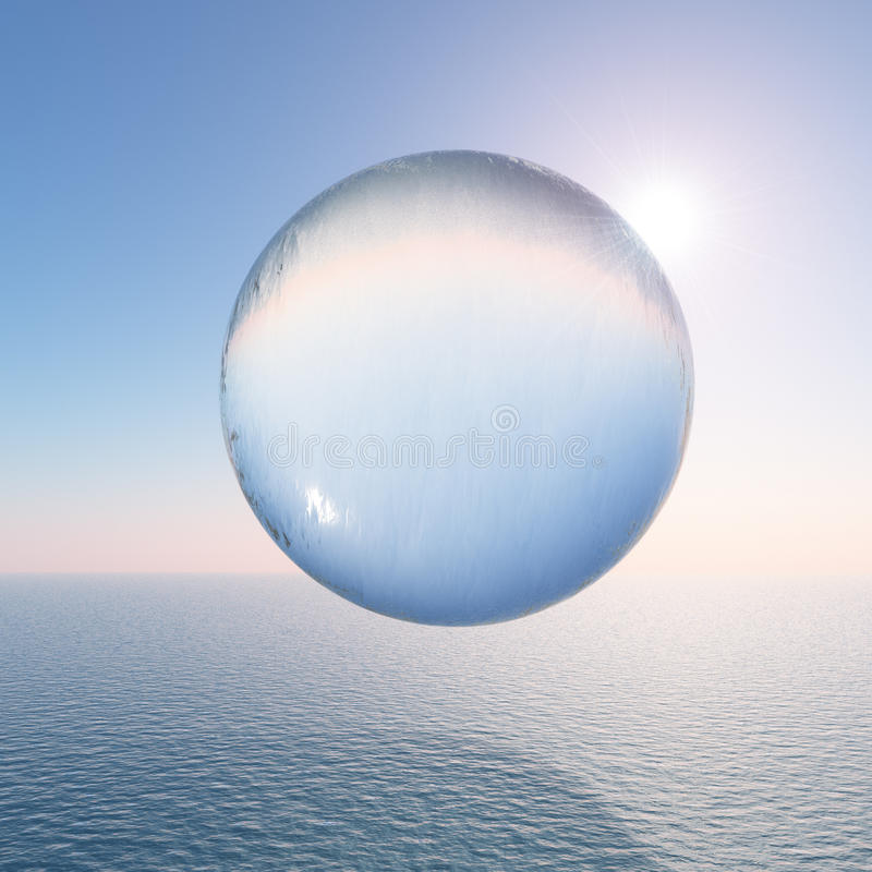 Download Water Sphere Above The Sea Royalty Free Stock Photography - Image: 34233627