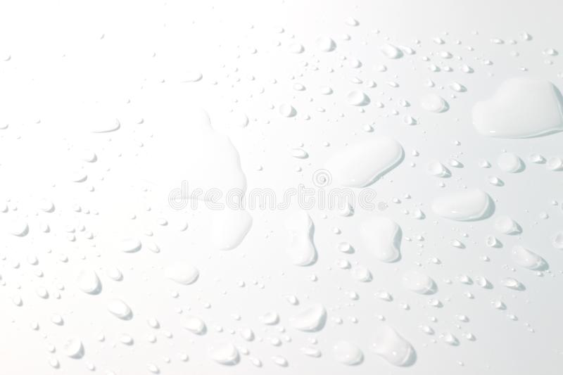 Water spill on white background. Stock photo, images and stock photography. Image stock image