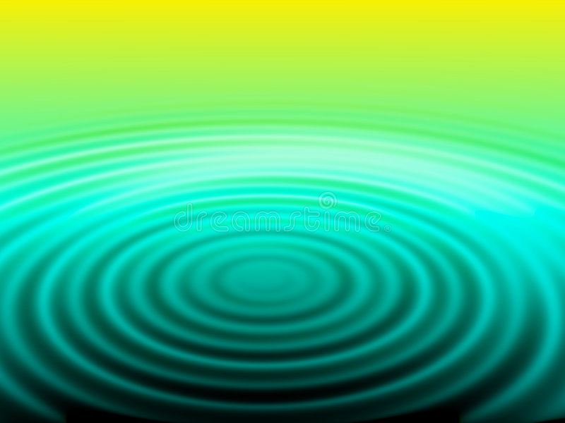 Water spiral – green and yellow vector illustration
