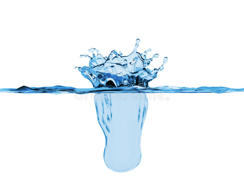 Water splash royalty free illustration