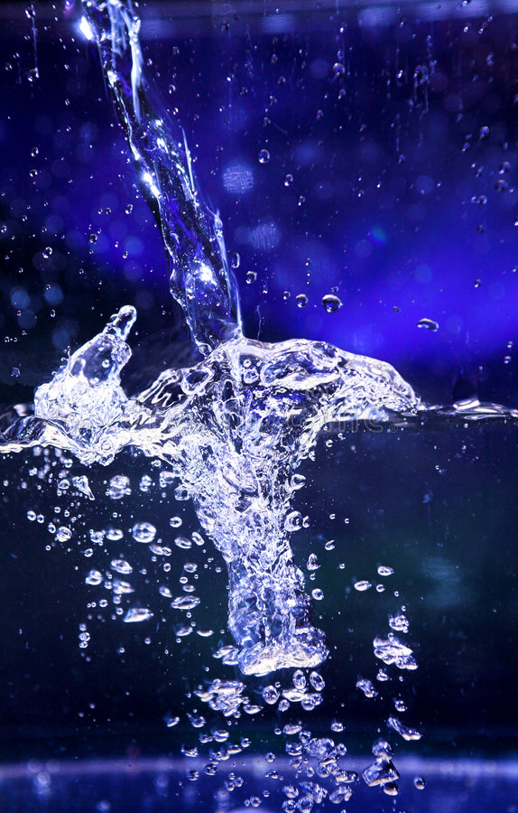 Download Water splash stock image. Image of cocktail, lemon, blue - 3174121