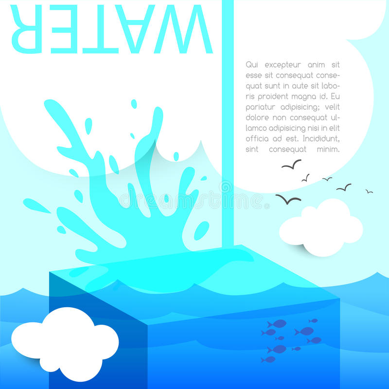 Download Water splash stock vector. Image of background, dripping - 38530002