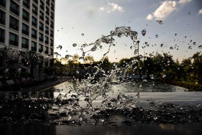 Water splash background stock photo