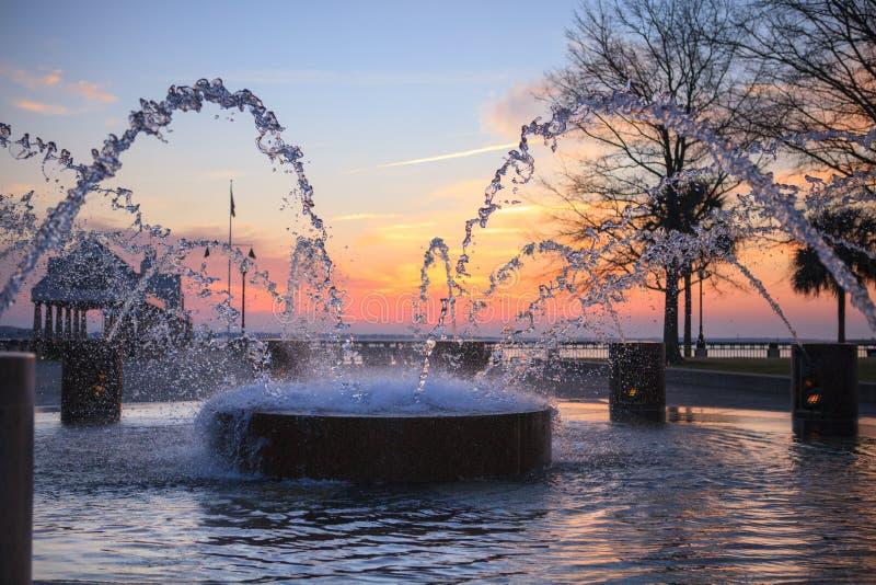 Water Splash Charleston SC Fountain Royalty Free Stock Photography