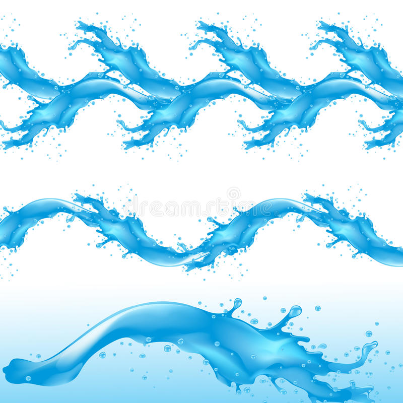 Water splash detailed stock illustration