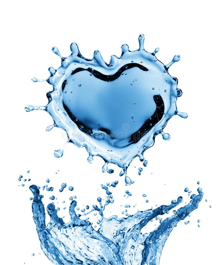 Download Water Splash In The Form Of A Heart. Stock Photo - Image of clean, falling: 108728302