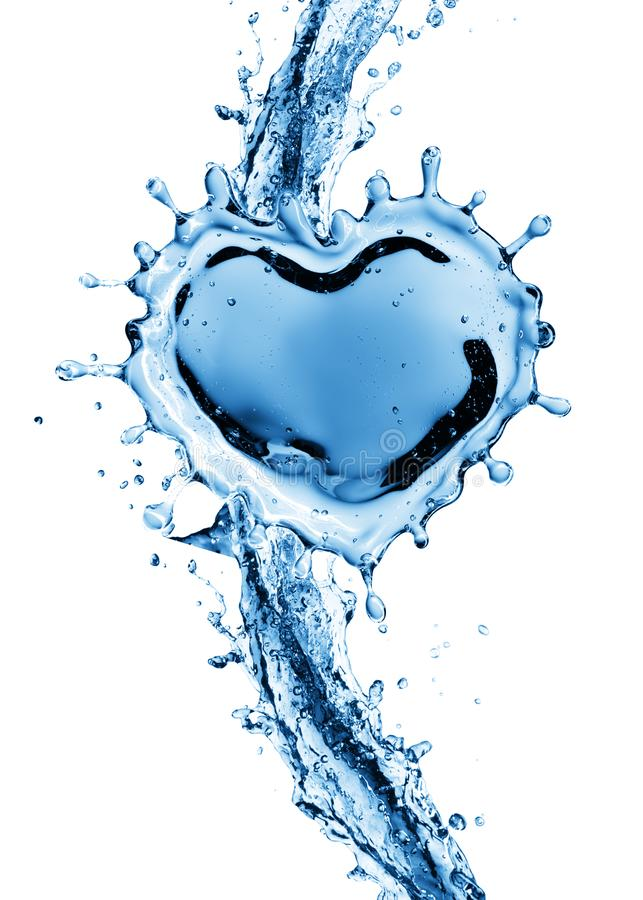 Download Water Splash In The Form Of A Heart. Stock Photo - Image of macro, flow: 109217314