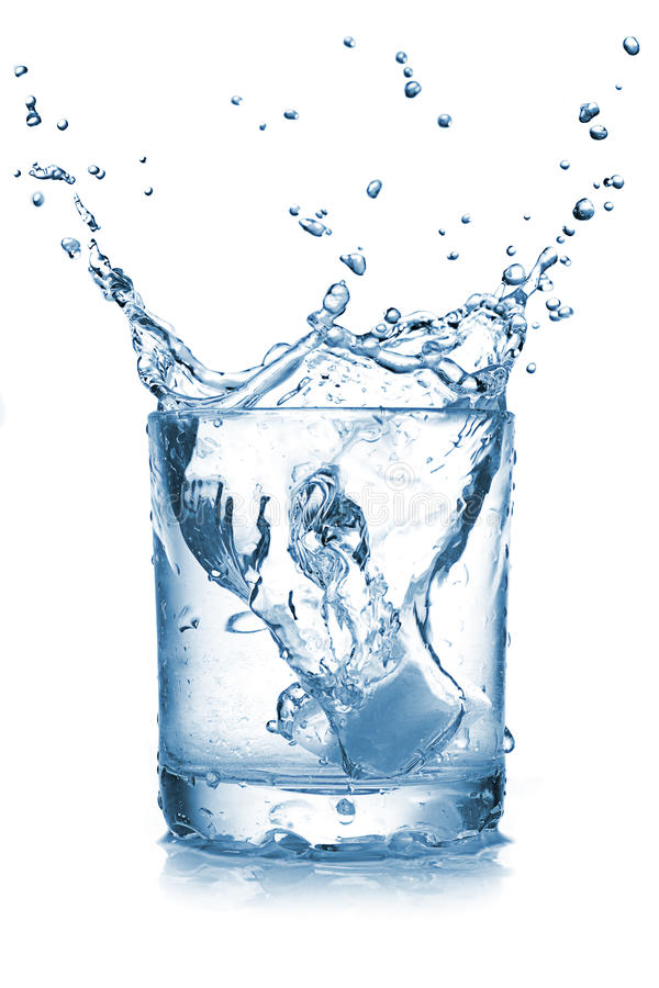 Download Water splash in glass stock image. Image of thirst, background - 19886333