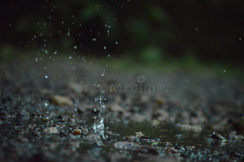 Water splash on the ground stock images
