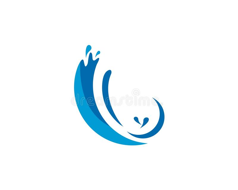 Water splash logo vector. Icon illustration design royalty free illustration