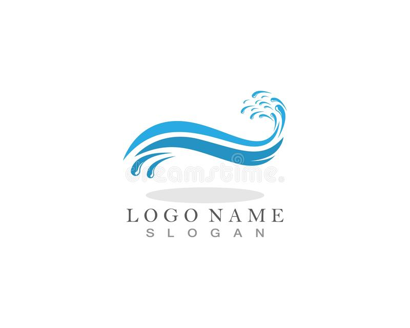 Water splash ocean company logo vector.  stock illustration