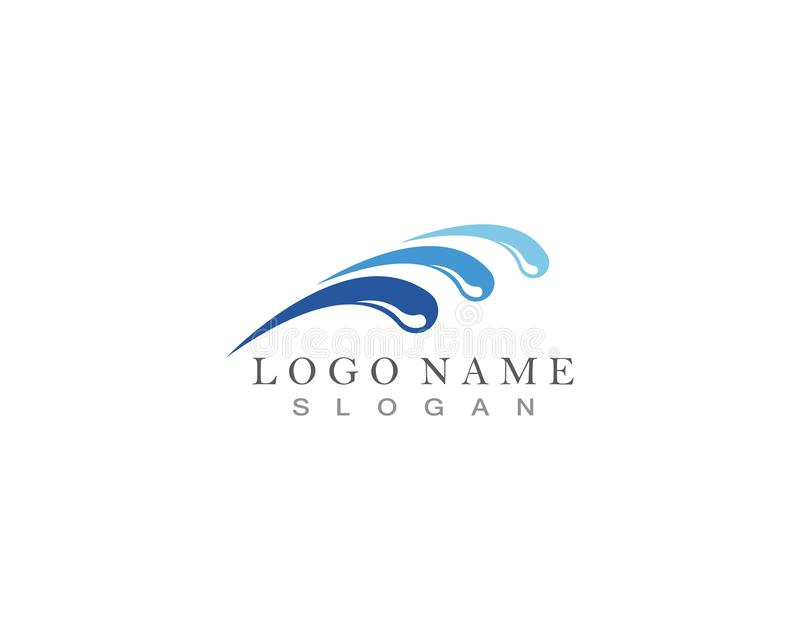 Water splash ocean company logo vector.  royalty free illustration