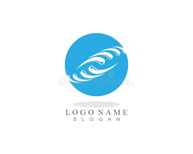 Water splash ocean company logo vector.  vector illustration