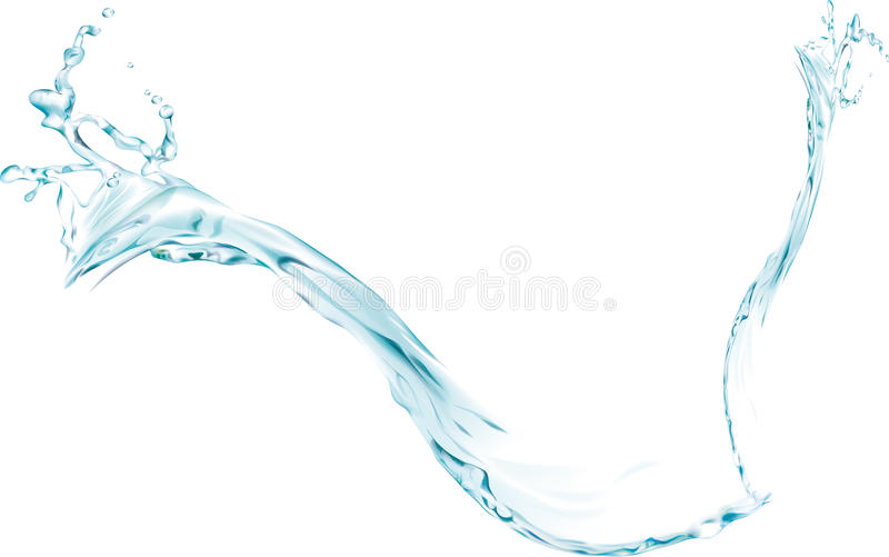 Download Blue Water splash stock vector. Image of blue, background - 21877329