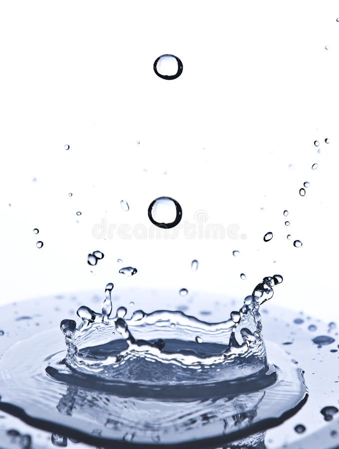 Water splashes royalty free stock photo