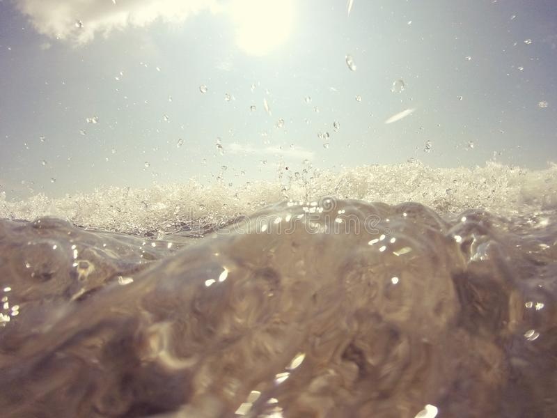 Water splashes in the Italian sea stock photos