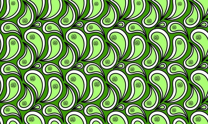 Seamless Green Water Splash. Water splashes pattern with spots ine, looking like microorganisms. Seamless tile vector illustration