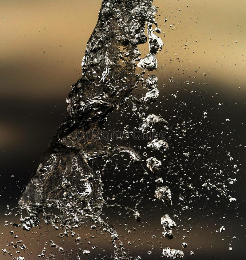 Water splashing in inversion as an abstract background.  royalty free stock images