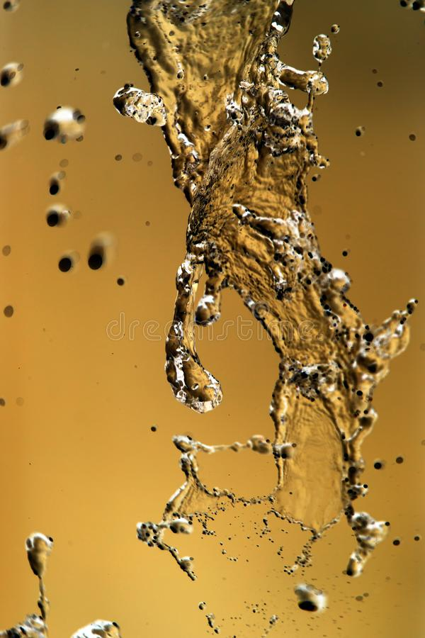 Water splashing in inversion as an abstract background.  stock photo
