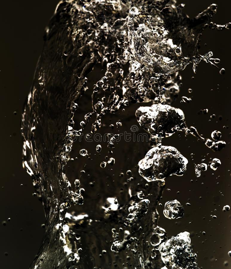 Water splashing in inversion as an abstract background.  royalty free stock photo