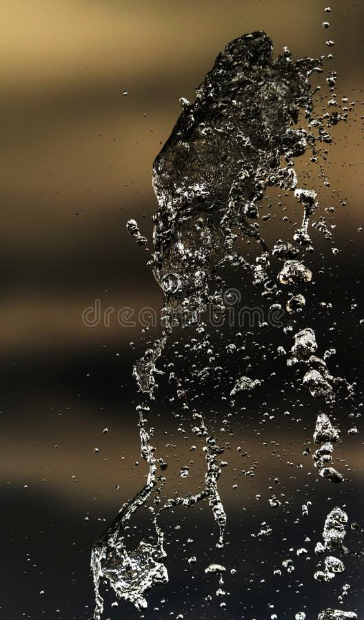 Water splashing in inversion as an abstract background.  royalty free stock photography