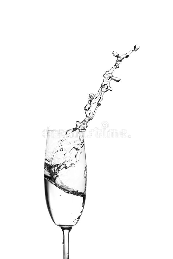 Download Water Splashing Out Of A Champagne Glass Stock Photo - Image of goblet, transparent: 12512936