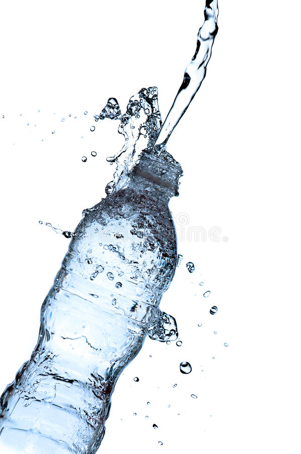 Download Water Splashing On A Water Bottle Stock Image - Image of blue, container: 14127883