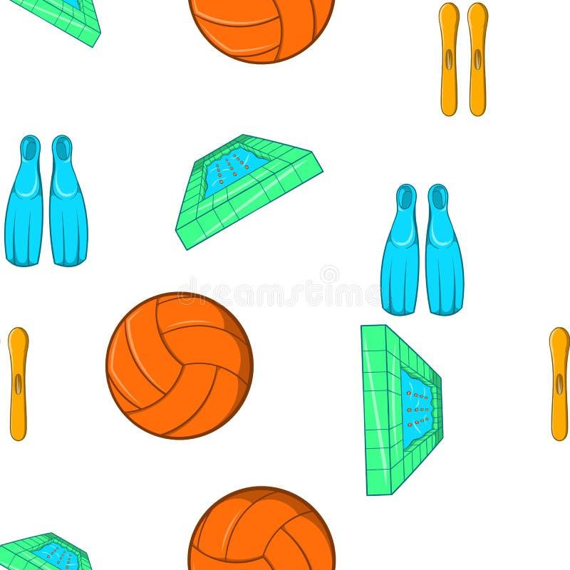 Water sport pattern, cartoon style royalty free illustration