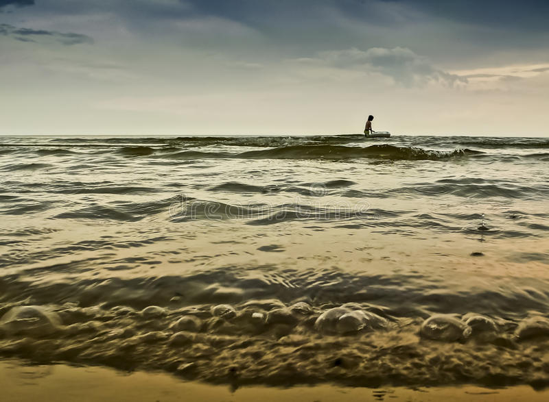 Download Water Sport At Windy Weather, Baltic Sea Stock Photo - Image: 25631294