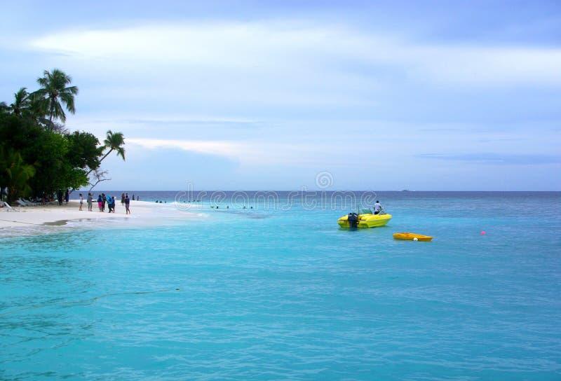 Water Sports at Maldives Resort royalty free stock photography