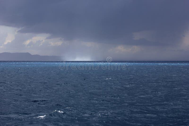 Waterspout / water spout, twister, tornado at sea stock photos
