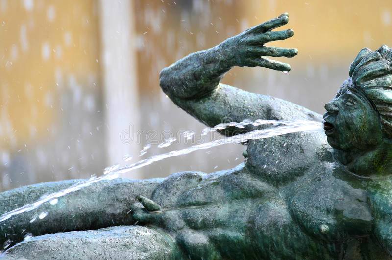 Download Water spouting statue stock image. Image of outside, face - 25420297