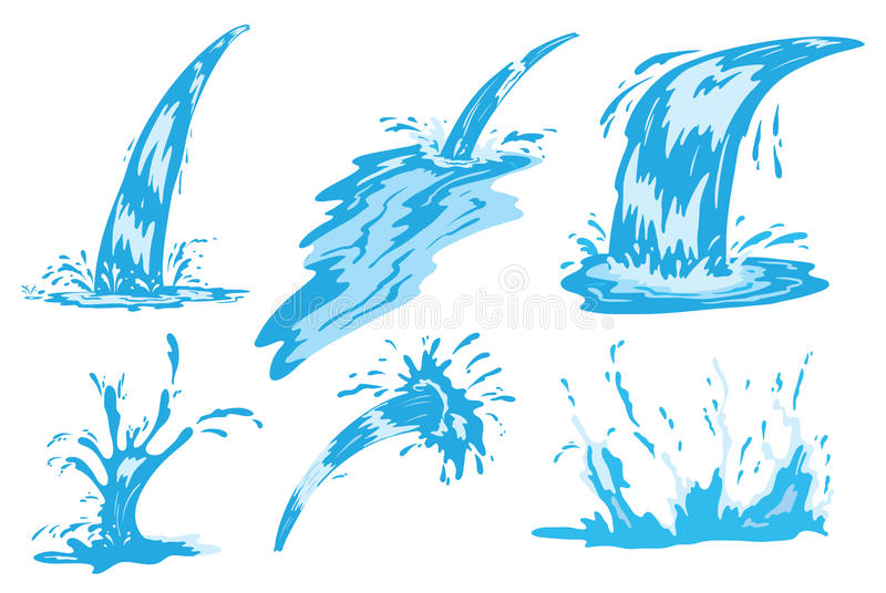 Download Water spray and jet stock vector. Image of flowing, fresh - 25484913